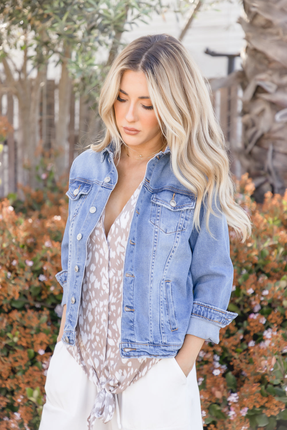 Lia Classic Stretch Denim Jacket