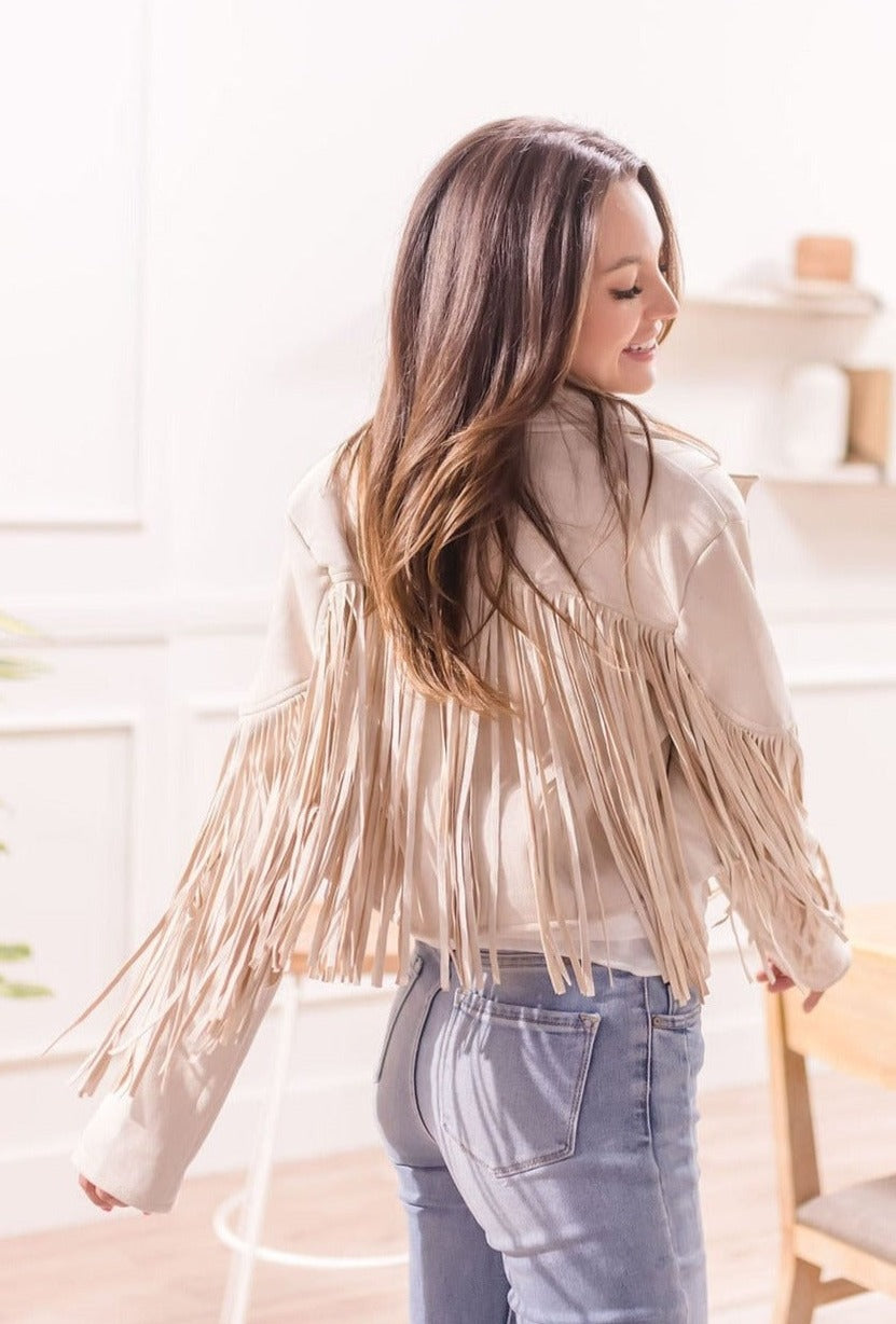 JOLIE BEADED FRINGE CLUTCH