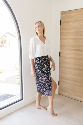 LIZ FAUX LEATHER CIRCLE BELT