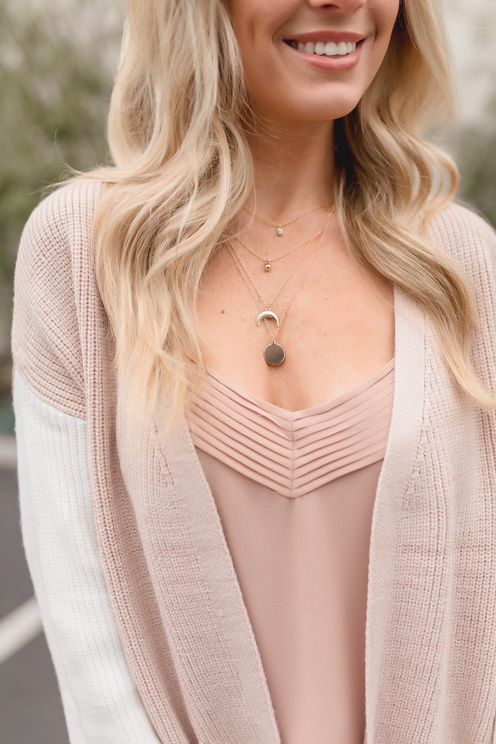 CARLI MULTI-CHARM LAYERED NECKLACE | GOLD