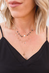ROSELYN RHINESTONE LAYERED NECKLACE | SILVER