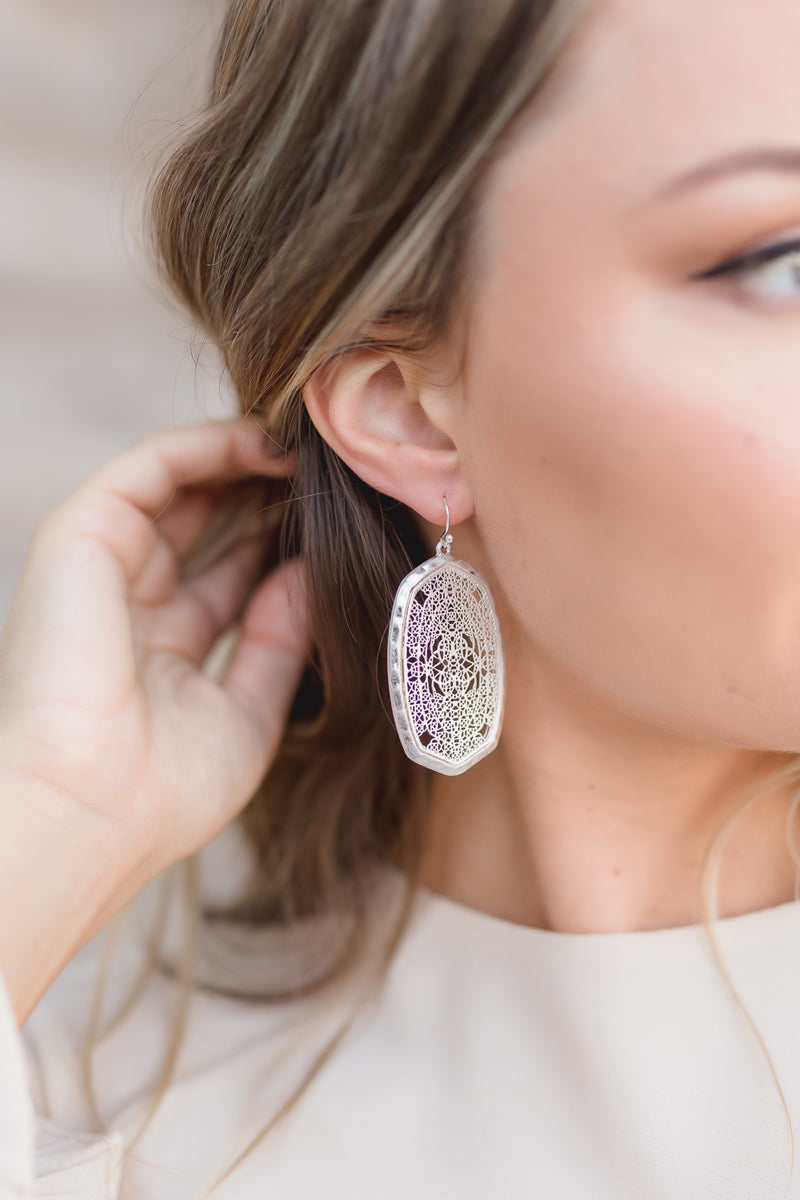 CHRISSY HAMMERED SILVER EARRINGS