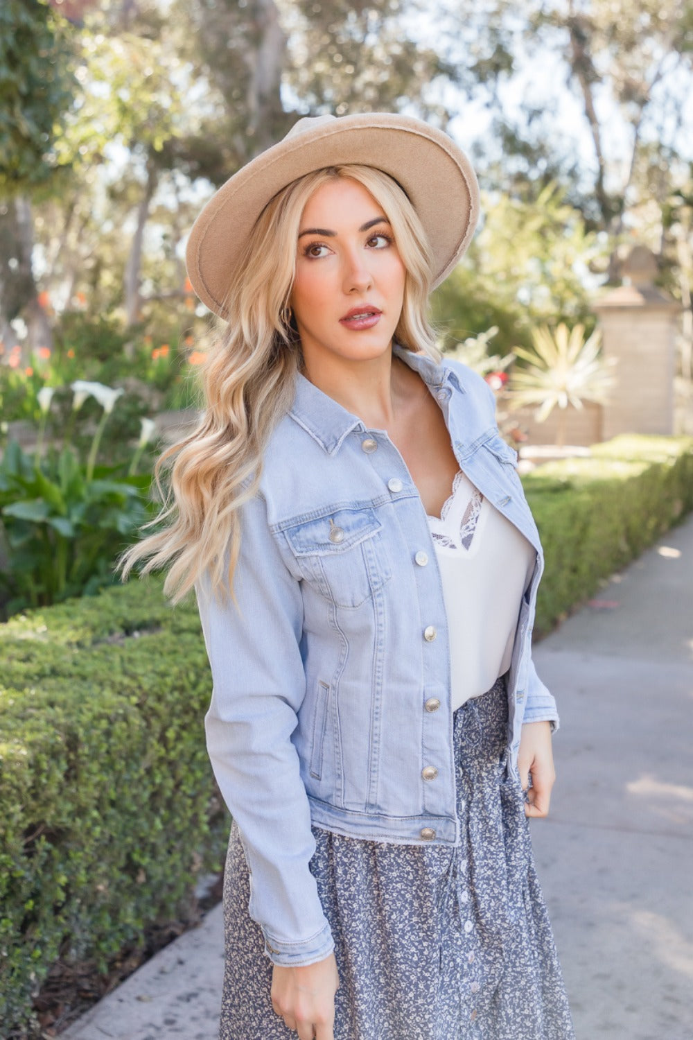 Lia Light Wash Classic Denim Jacket