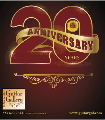 20th Anniversary Guitars at Guitar Gallery