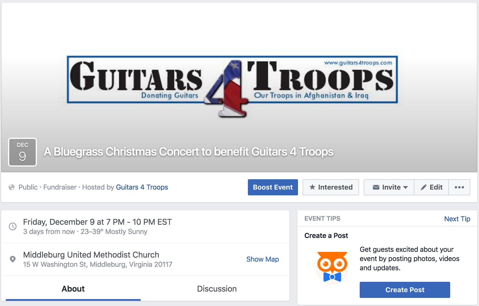 Guitars 4 Troops concert