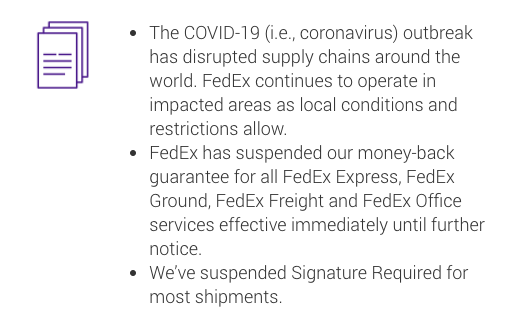 fedex delivery notice