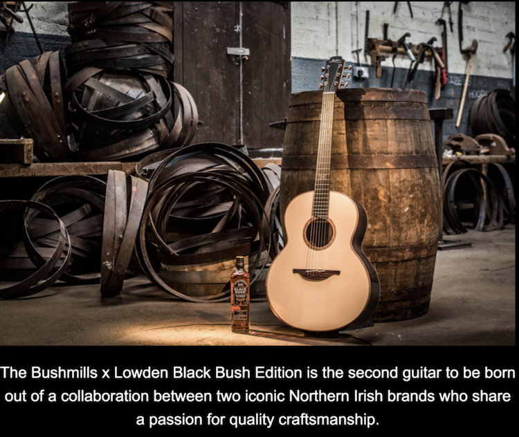 Bushmills X Lowden Guitar at guitar gallery