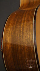 Olson SJ cutaway guitar side detail