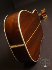 1987 Martin D-45 guitar up the Brazilian rosewood back