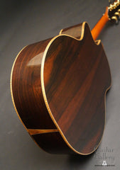 Ryan Mission GC Brazilian rosewood guitar back glam shot
