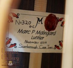 Maingard guitar label