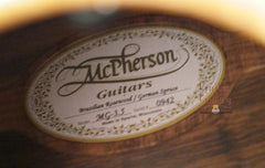 McPherson MG-3.5 Guitar label