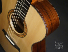 Alberico Madagascar rosewood OM guitar upper bout