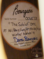 Bourgeois Soloist OMC AT guitar label