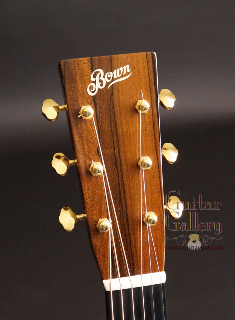 Headstock on Bown OM guitar