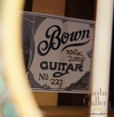 label on Bown OM guitar