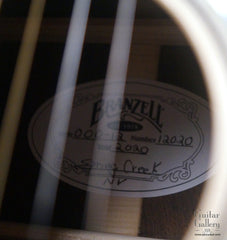 Branzell 000-12 guitar label