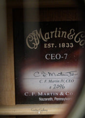 Martin CEO-7 guitar label