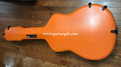 Calton orange granite flight case for Lowden guitar