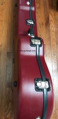 Calton case for Lowden F guitar side view