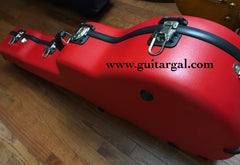 Red Calton flight case for Martin Dreadnought guitar