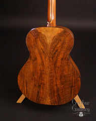McElroy guitar walnut back