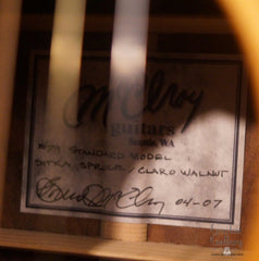 McElroy guitar label