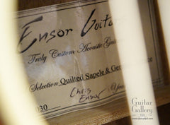 Ensor guitar label
