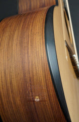 Lowden F35c Mountain Rosewood guitar bevel