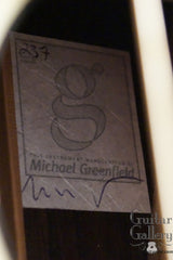 Greenfield G1 guitar label