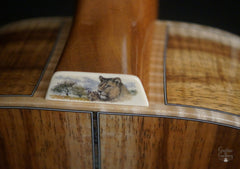 Froggy Bottom guitar engraved heelcap