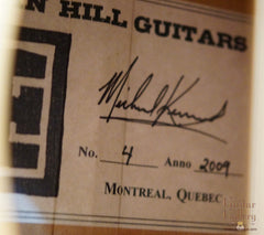 Indian Hill Concert Guitar label