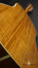 Square Deal JN guitar fiddleback mahogany back