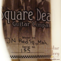 Square Deal JN guitar interior label