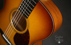 Collings OM1A JL SB guitar upper bout