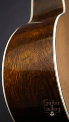 Bourgeois JOMC Brazilian rosewood guitar side detail