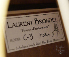 Brondel guitar label