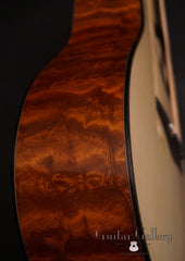 Rasmussen S cutaway TREE mahogany guitar side detail