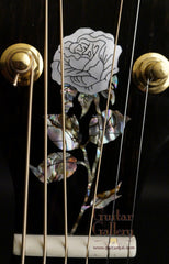 headstock rose inlay on Langejans guitar