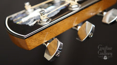 Larrivee LV-10 Koa custom guitar side headstock
