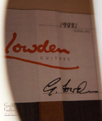 Lowden S32J (Jazz) Guitar