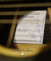 NK Forster model C guitar label