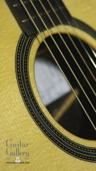 NK Forster model C guitar rosette close
