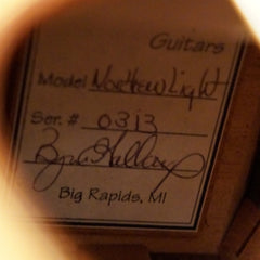 Galloup Northern Light guitar label