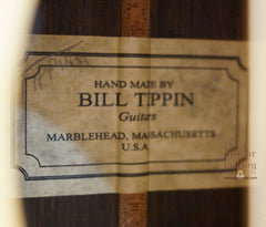 Tippin OMT Guitar label