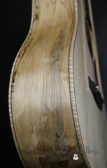 Froggy Bottom SJ-12 Spalted Maple Guitar side detail