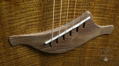 Lowden fan fret guitar bridge