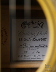 Martin SS-00L Art Deco guitar label