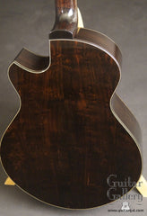Strahm African Blackwood guitar back close