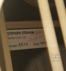 Strahm African Blackwood guitar label